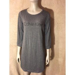 Calvin Klein Long Sleeve T-Shirt Dress